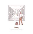 office worker analysing maze businessman vector image