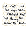 Oktoberfest Hand Drawn Lettering vector image
