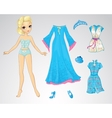 Paper Snow Queen Doll vector image
