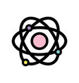 physics orbit atom chemistry education vector image