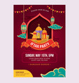 ramadan iftar party design poster and banner vector image vector image