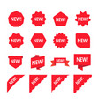 red promotion labels with word new set new vector image