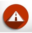 road web icon vector image