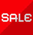 Sale Paper Title on Red Background vector image