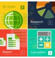 Set of flat design business concepts banners vector image