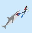 shark attack vector image vector image