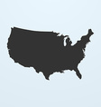 Silhouette of USA Map United states of America map vector image vector image