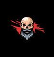 skull logo design vector image vector image