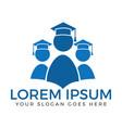 students logo design vector image