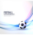 stylish football background with abstract wave vector image