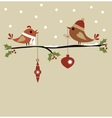 template of christmas card vector image vector image