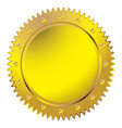 Wax golden seal vector image