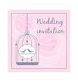 Wedding invitation icon cartoon style vector image