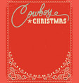 western red christmas card with decorative text vector image vector image