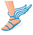 Winged shoes vector image vector image