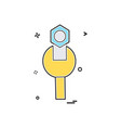 wrench icon design vector image