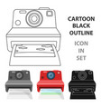 retro photocamera icon in cartoon style isolated vector image