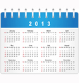 Stylish calendar page for 2013 vector image
