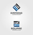 abstract square logo template vector image