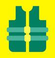adult life vest jacket flat design vector image vector image