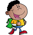 African American School Boy vector image