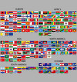 all flags of the world vector image