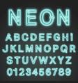 alphabet font neon design vector image
