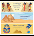 ancient egypt culture set banners with history vector image vector image