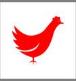 animals chicken logo template red color designs vector image