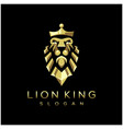 awesome lion king logo vector image