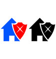 Bad house protection icon vector image