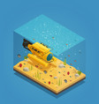 bathyscaphe underwater equipment vector image