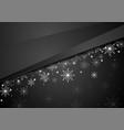 black abstract snowflakes christmas corporate vector image vector image