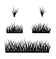 black silhouette of grass vector image
