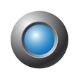 Blue button vector image