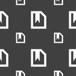 bookmark icon sign Seamless pattern on a gray vector image vector image