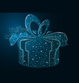 box with a gift on a dark background gift vector image