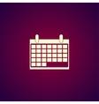 calendar - icon vector image vector image