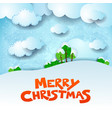 christmas snowy landscape with text and copy space vector image vector image