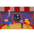 circus show circus people vector image vector image
