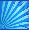 comic dynamic blue background vector image vector image