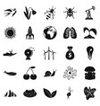 conservationist icons set simple style vector image vector image