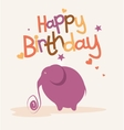 Cute card with the elephant vector image