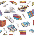 different books from library doodle vector image