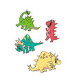 dinosaur character cartoon set vector image vector image