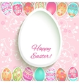 Easter holiday frame vector image