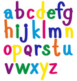 English alphabets in many colors vector image vector image