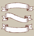Engraved set of ribbons vector image