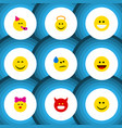 flat icon emoji set of angel laugh joy and other vector image vector image