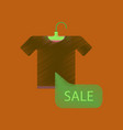 flat shading style icon sale t-shirt vector image